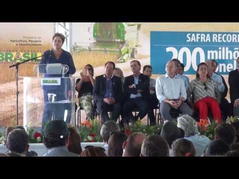 Dilma recebe reivindica��es de agricultores em Mato Grosso