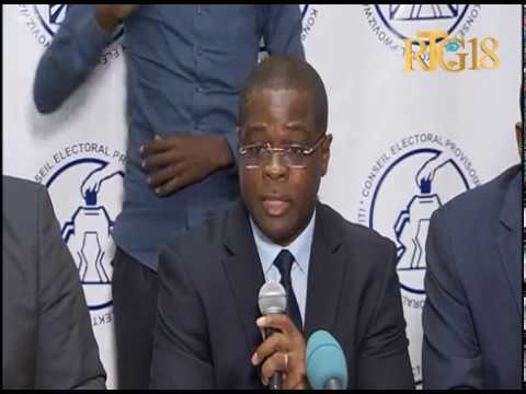 Haïti.- Conseil Electoral Provisoire / Conférence de Presse