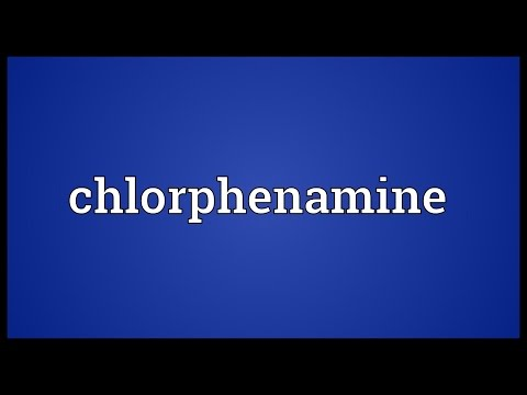 Chlorphenamine Meaning