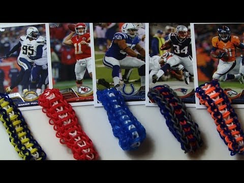 RAINBOW LOOM SPORTS LADDER BRACELET *EASY*