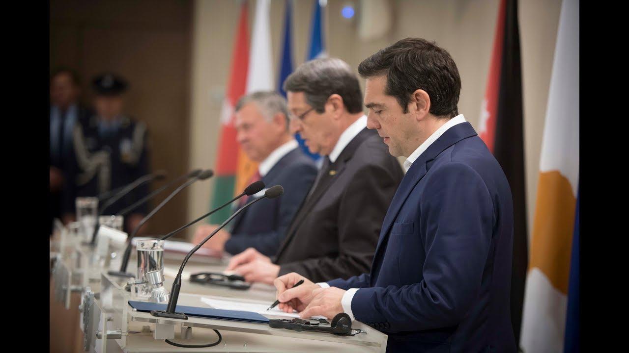 Δηλώσεις στο πλαίσιο της 1ης Συνόδου Ελλάδας – Κύπρου – Ιορδανίας