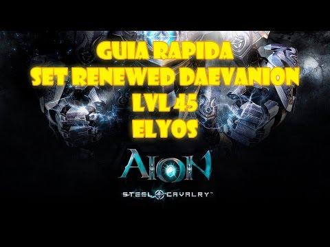 GUIA RAPIDA AION 4.7 | RENEWED DAEVANION SET LVL 45 – ELYOS