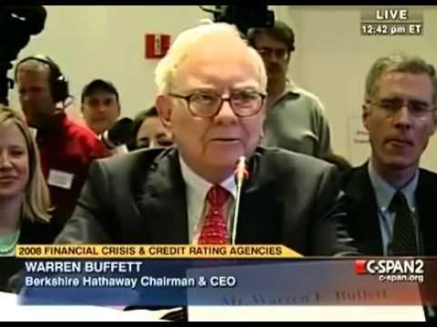 Warren Buffett On The Financial & Housing & Credit Crisis future