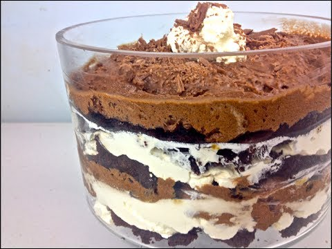 Chocolate Brownie Mousse Trifle