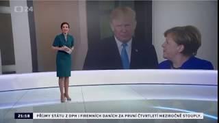 Macron a Merkelová v Bílém domě