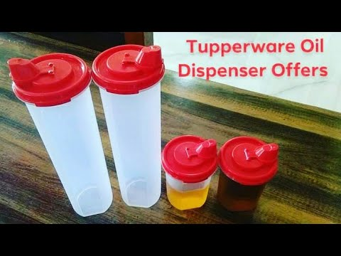 Tupperware Mega Magic Plastic Flow,1.1 Liters,Tupperware Magic Flow Plus Plastic Oil Dispenser,440ml