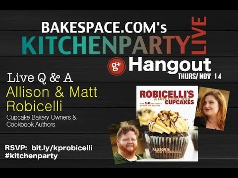Cupcake Recipes: Allison Robicelli Cupcake Chat #KitchenParty