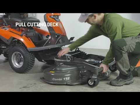 Садовый райдер бензиновый HUSQVARNA R 316TX AWD - видео №1