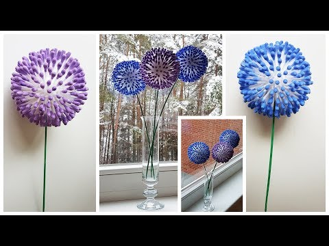 Q Tip Flower Craft Tutorial