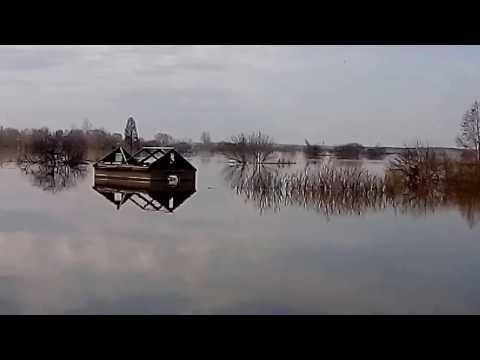 Паводок-2017 СКО, Петропавловск, поселок Хромзавод. Воды еще больше.