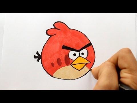 Wie zeichnet man Red [Angry Birds] zeichen tutorial