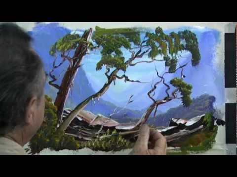 How to Paint a Rugged Tree on a Mountain – 3d effects