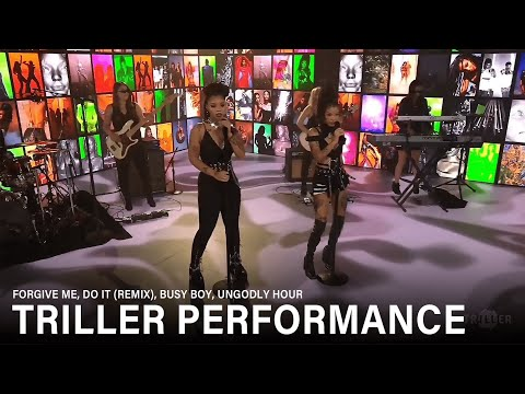 Chloe x Halle perform for Triller
