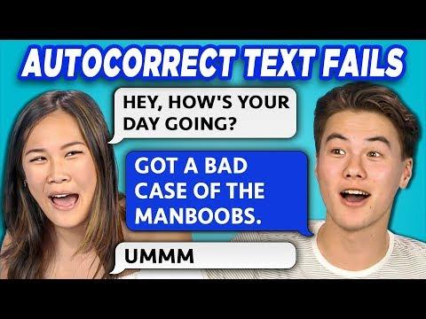TEENS READ 10 AUTOCORRECT TEXT FAILS (REACT)