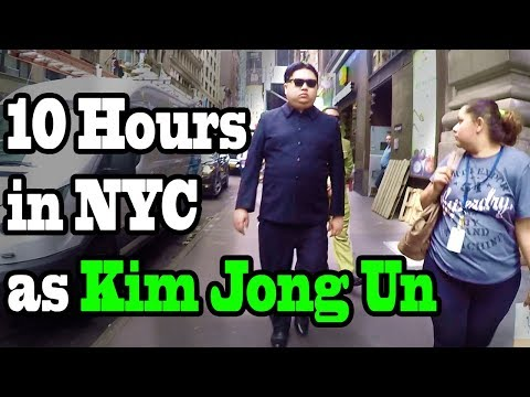 10 Hours of Walking in NYC as Kim Jong Un