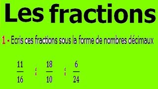 Maths 6ème - Fractions Exercice 4