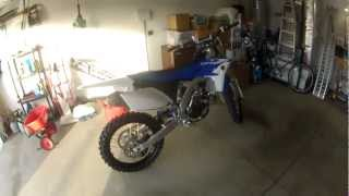 8. New 2013 Yamaha YZ250F overview with startup and rev