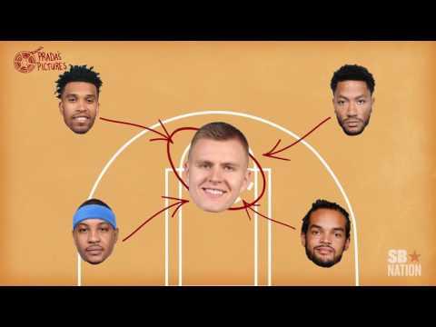 Video: Kristaps Porzingis is the key to the Knicks' offense