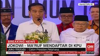 Video Puji Prabowo-Sandi, Ini Pidato Lengkap Jokowi Usai Daftar Capres #JokowiMaruf Pilpres 2019 MP3, 3GP, MP4, WEBM, AVI, FLV November 2018