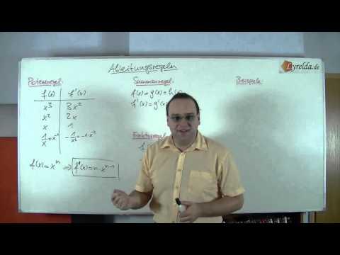 Ableitungsregel-Potenz, Summe, Faktor