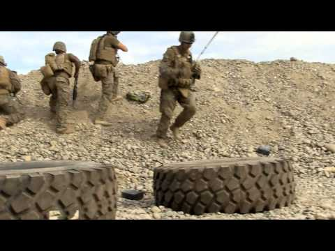combat - Patrol Base Georgetown Attack: U.S. Marines with Weapons Company, 1st Battalion, 6th Marines, taking highly accurate indirect fire at Patrol Base Georgetown ...