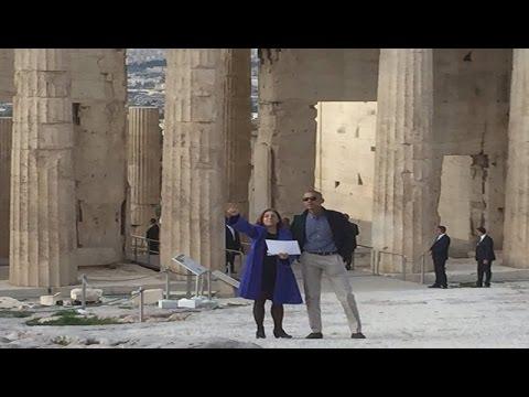 Βίντεο του Μ. Ομπάμα από την επίσκεψη του στην Ακρόπολη, στη σελίδα του στο Facebook