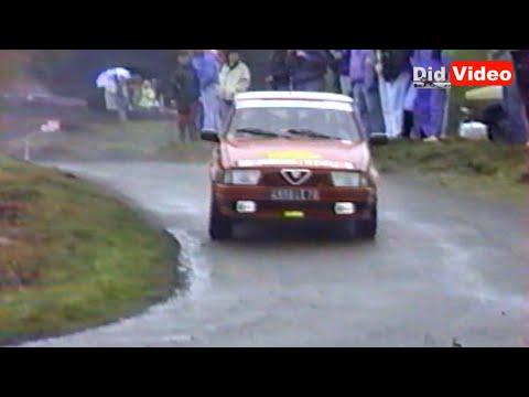 l'alfa 75 gruppo a al rallye de la luronne (1991)