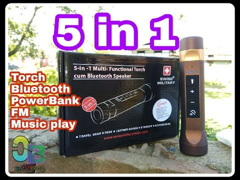 Swiss Military 5 in 1 Torch Cum Bluetooth Speaker Unboxing & Review in HD