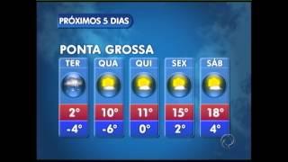 A previsão do tempo na noite do dia 22/07/13 foi histórica no Paraná, os alertas para a queda de neve para o dia seguinte, deixaram a população, ...