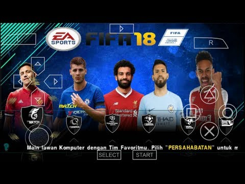 FIFA 18 MOD PES 2018 PPSSPP/PSP NEW PATCH 100%