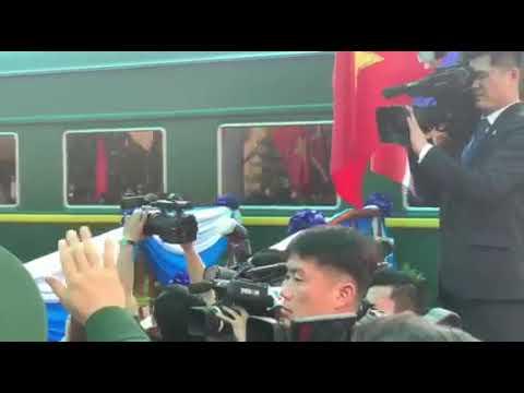 Khoảnh khắc đoàn tàu bọc thép lăn bánh rời ga Đồng Đăng - Thời lượng: 2 phút, 46 giây.