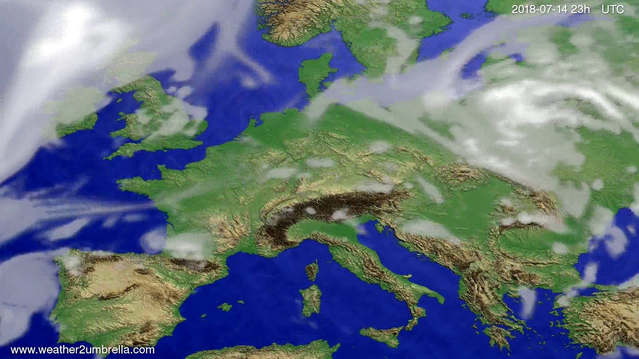Cloud forecast Europe 2018-07-11