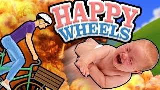 "HAPPY WHEELS: ""TOSS THE BABY"" - Happy Wheels Gameplay & Commentary"