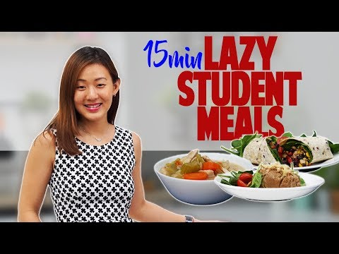 Lazy Student Meals in 15 Minutes | Healthy, Cheap, Fast | Joanna Soh