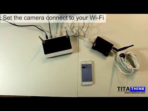 Titathink TT520PW HD 720P Wireless Wi-Fi spy nanny pinhole covert camera