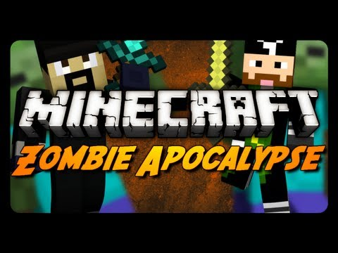 Minecraft Maps - ZOMBIE APOCALYPSE! - Pt. 1 w/ CavemanFilms (Adventure Map)