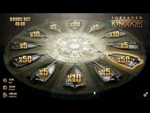 Forsaken Kingdom - SLOT MACHINE - Bonus win