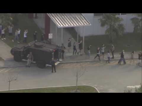 Parkland, Florida high school  students evacuate after active shooter reported