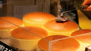Video Japanese Street Food - JIGGLY CHEESECAKE Uncle Rikuro's Cheese Cake Osaka Japan MP3, 3GP, MP4, WEBM, AVI, FLV April 2019