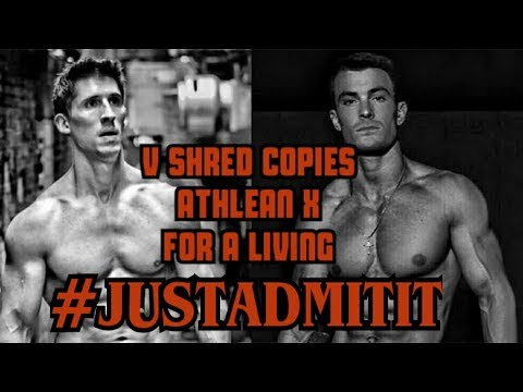 Fitness - V SHRED COPIES ATHLEAN X FOR A LIVING #JUSTADMITIT