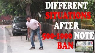Video Different Situations after ₹500 & ₹1000 Note Ban - RealSHIT MP3, 3GP, MP4, WEBM, AVI, FLV Oktober 2017