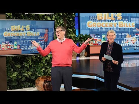 Bill Gates tries to guess grocery store prices on Ellen