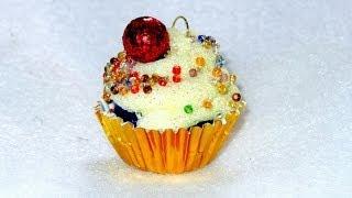 How to Make Cupcake Ornaments - Tutorial DIY - YouTube