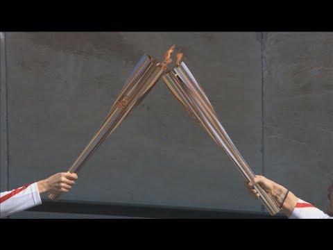 Τελετή παράδοσης της Ολυμπιακής Φλόγας στους Ιάπωνες διοργανωτές
