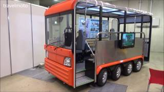Video Japanese mini bus with 8 wheels and 8 electric engines MP3, 3GP, MP4, WEBM, AVI, FLV November 2018