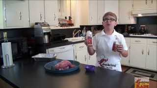 Cooking With Kade Makes Smoked Pork & Apple Jelly Serrano Pepper Sauce with Bloopers!