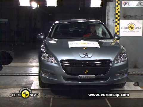 Peugeot 508 euroncap çarpışma / güvenlik testi videosu