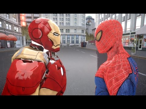 iron man - The battle between The Amazing Spider-man and Iron man takes place in the game Grand Theft Auto 4 Characters information: Spiderman is a fictional character, a comic book superhero that appears...