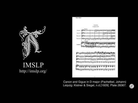 Canon And Gigue In D Major (Pachelbel) With Music Score
