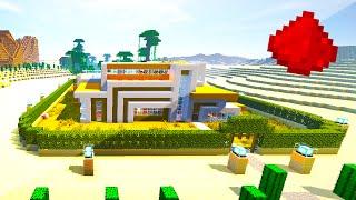 DESERT REDSTONE MODERN HOUSE (w/ 20+ Redstone Creations/Redstone Mechanisms)